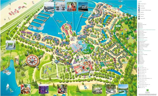 Parkplan von Center Parcs Port Zélande in Port Zélande